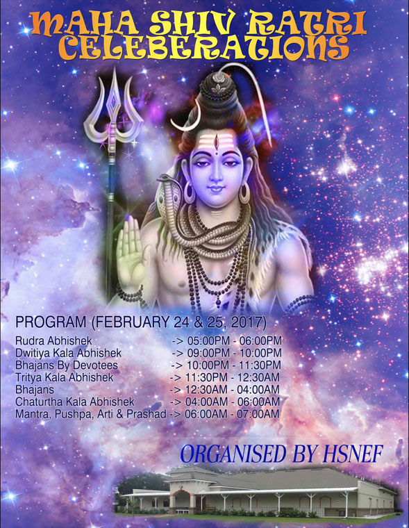 Feb 24 • Maha Shiv Ratri • – Hindu Society Of North East Florida