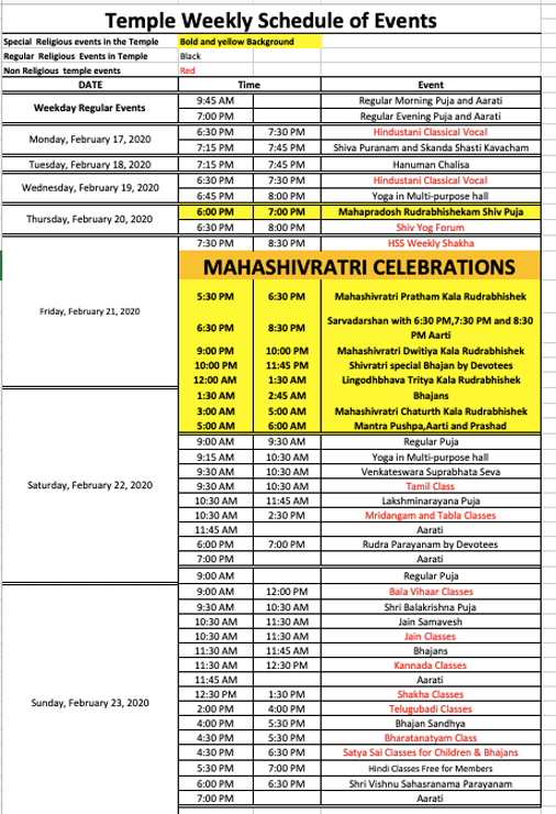 Events this week at HSNEF